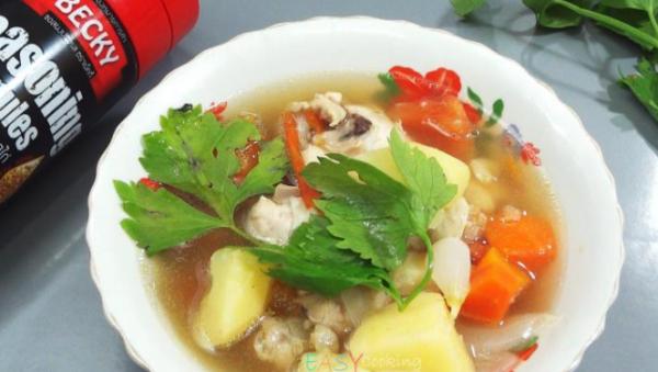 Recipe healty soup checken and potato soup